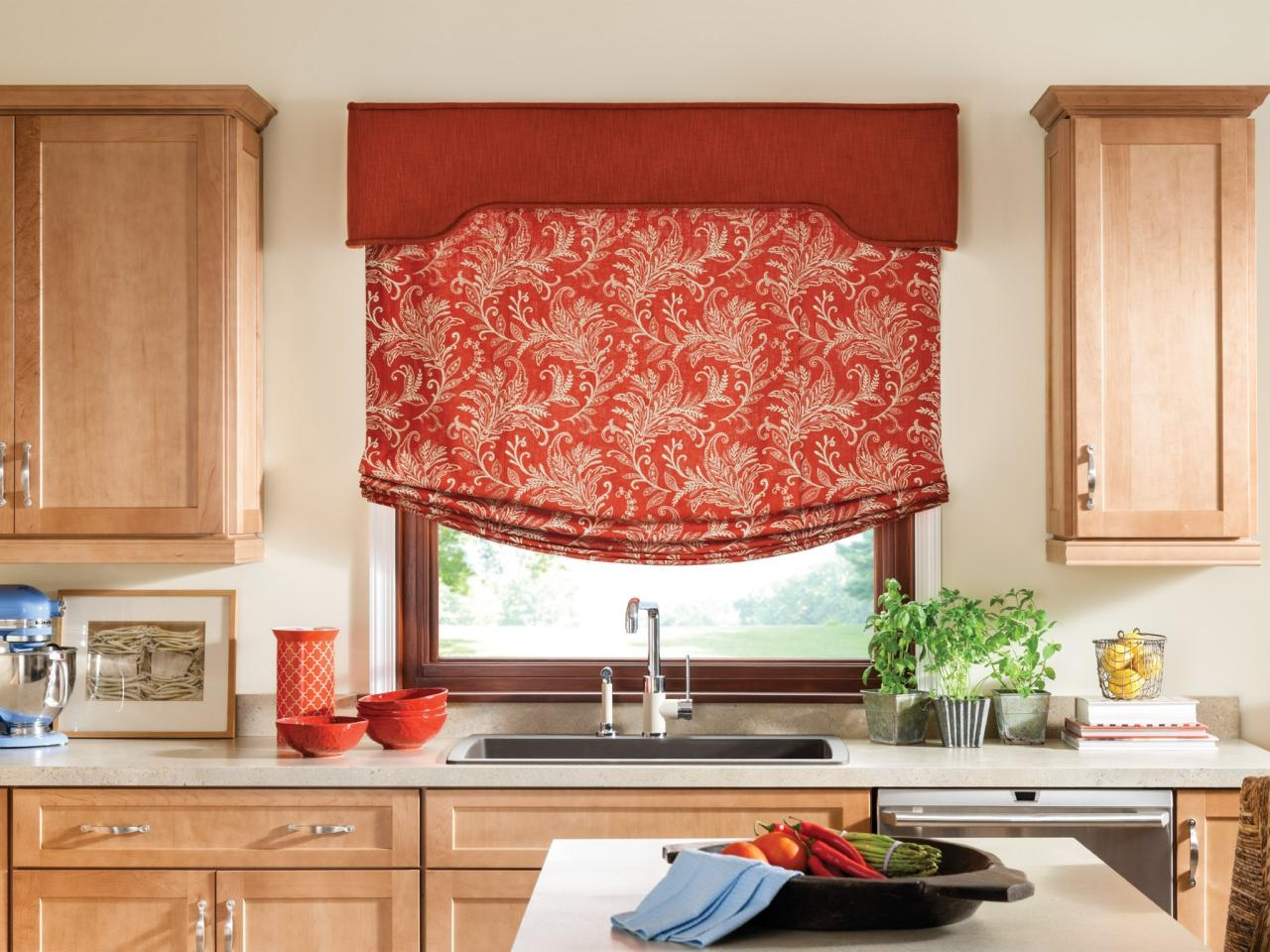 Photo Page Hgtv Regarding Red Roman Blinds Kitchen (Image 8 of 15)
