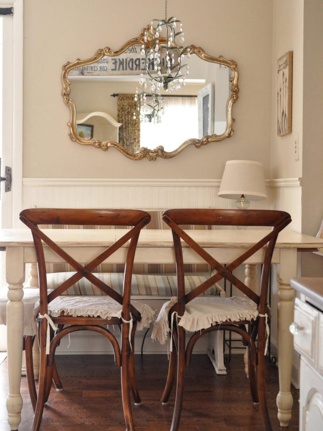 Photo Page Hgtv With Regard To Gold Shabby Chic Mirror (Image 13 of 15)