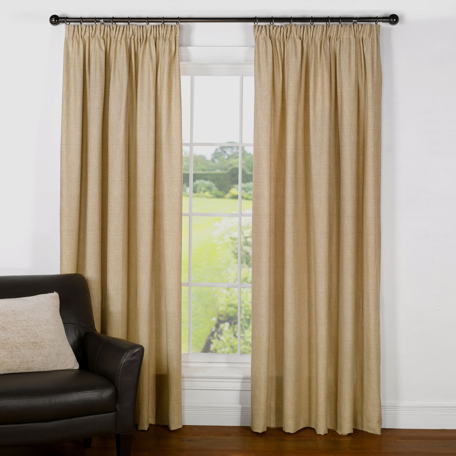 Pinch Pleat Curtains Cream Pinch Pleat Curtains Cotton Pinch Pleat In Lined Cotton Curtains (Image 12 of 15)
