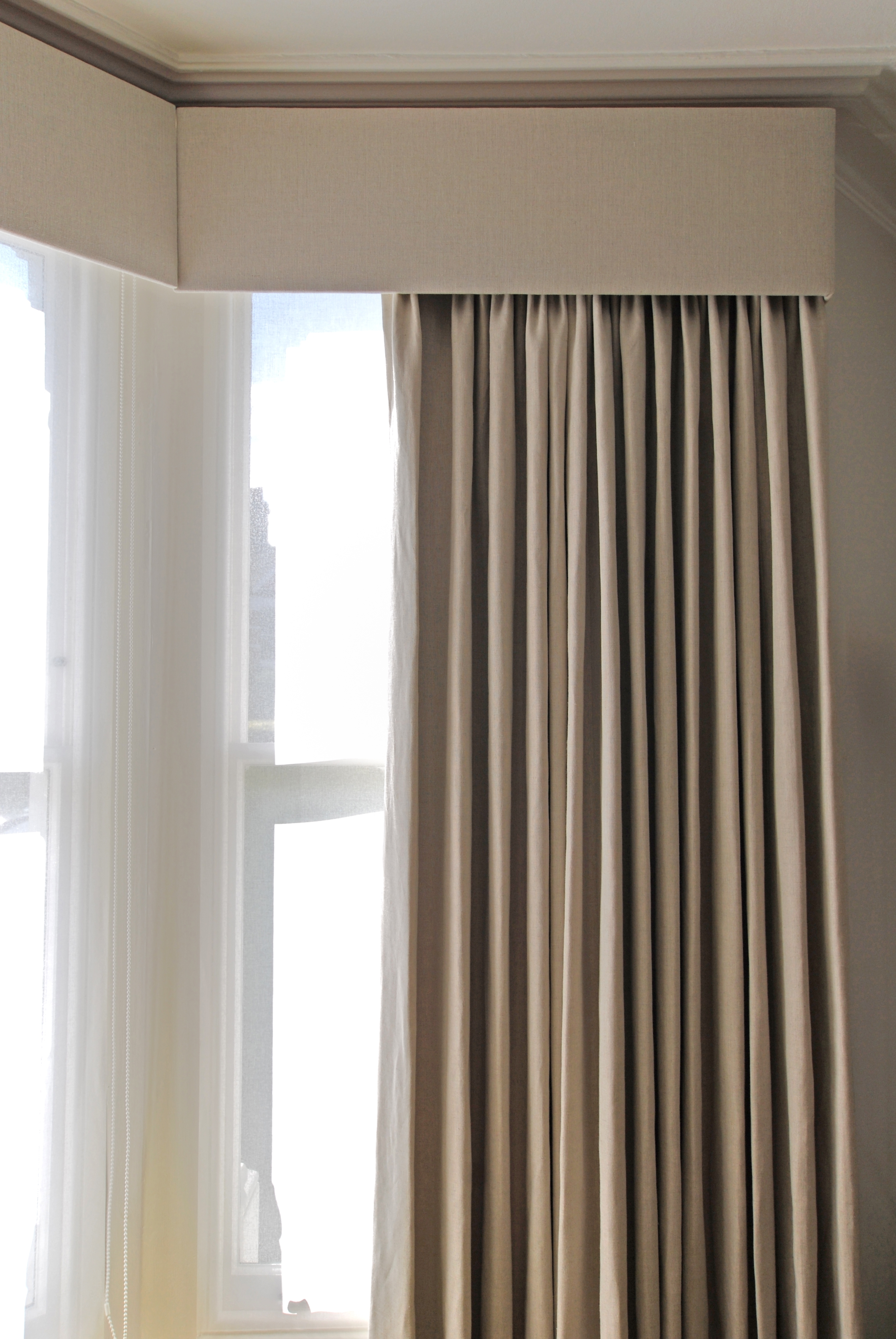 Plain Linen Border Curtains Google Search Bedroom Master Home In Blackout Curtains Bay Window (Image 14 of 15)