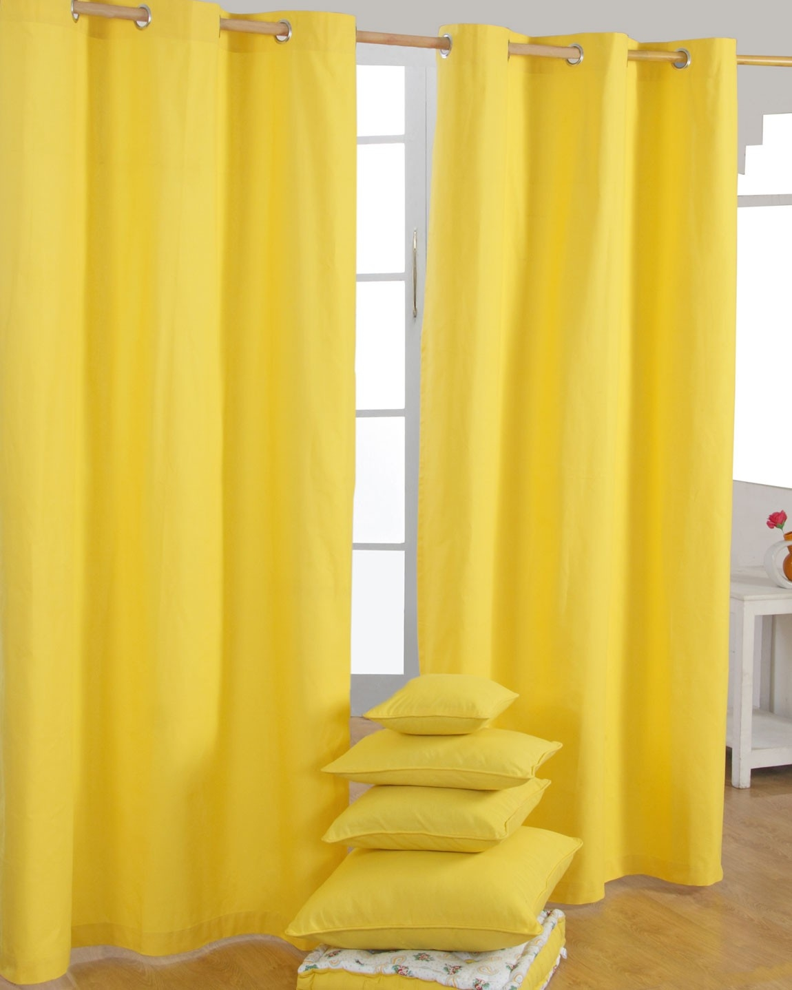 Plain Yellow Eyelet Curtains Best Curtains 2017 Within Cotton Eyelet Curtains (View 3 of 15)