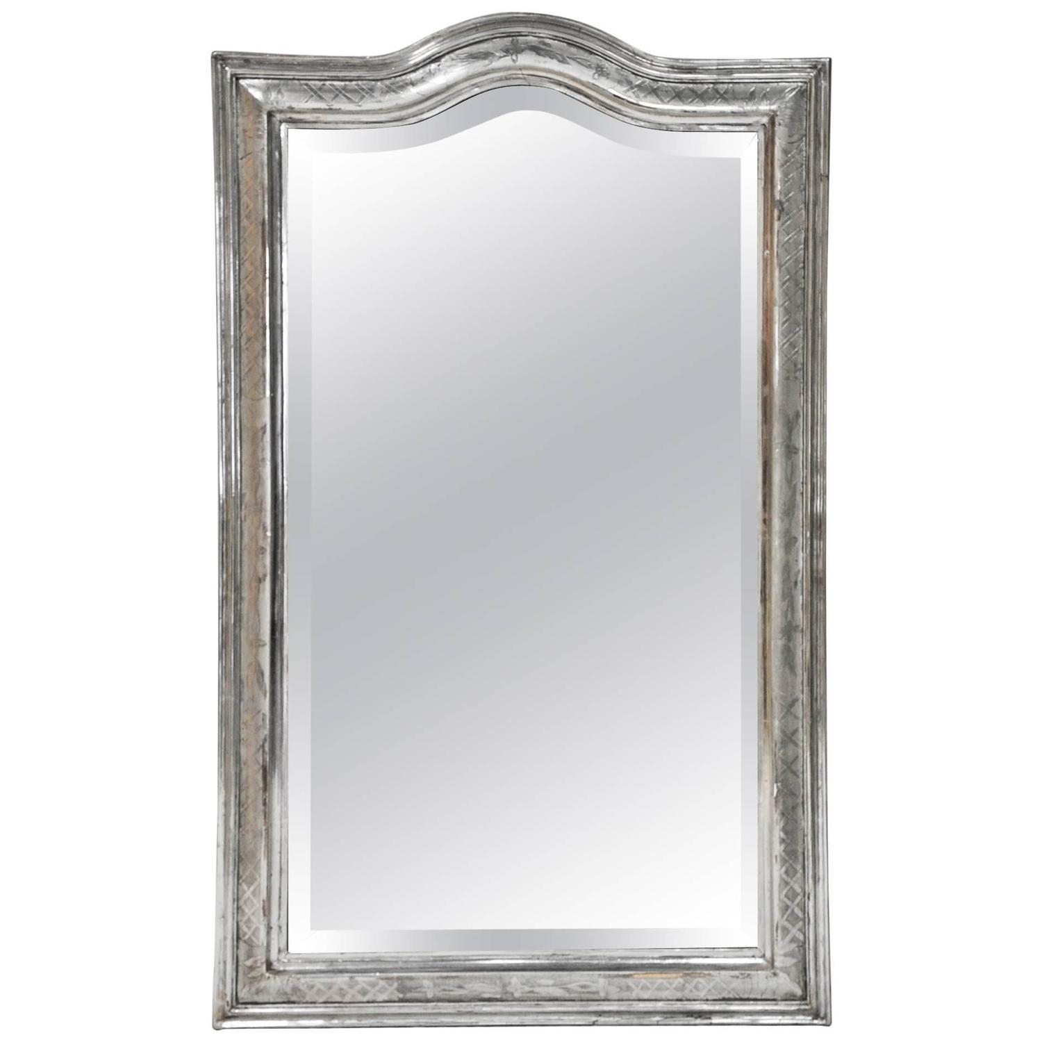 Plaster Mirrors 153 For Sale At 1stdibs Inside Silver French Mirror (Image 11 of 15)