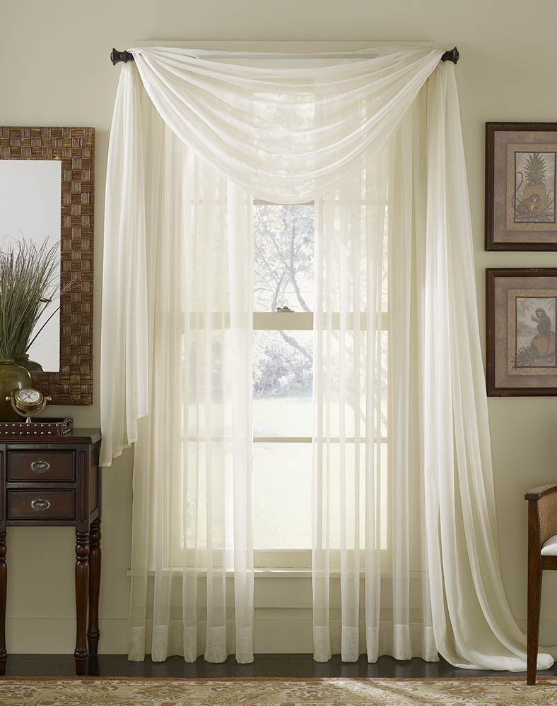 Platinum Voile Flowing Sheer Wide Width Panel Curtainworks Pertaining To Voile Sheers (View 4 of 15)