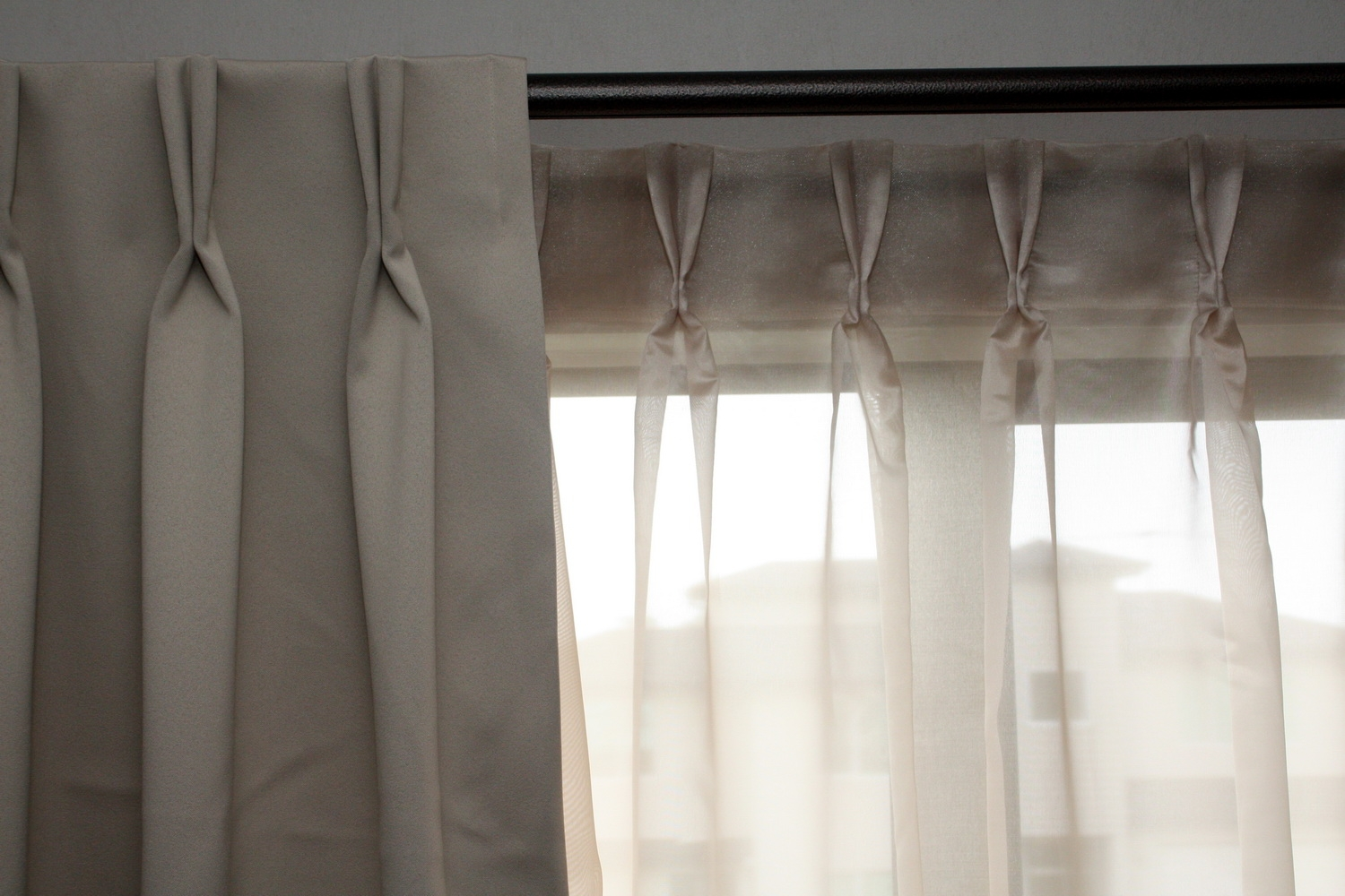 15 Collection Of Double Pleated Curtains Curtain Ideas