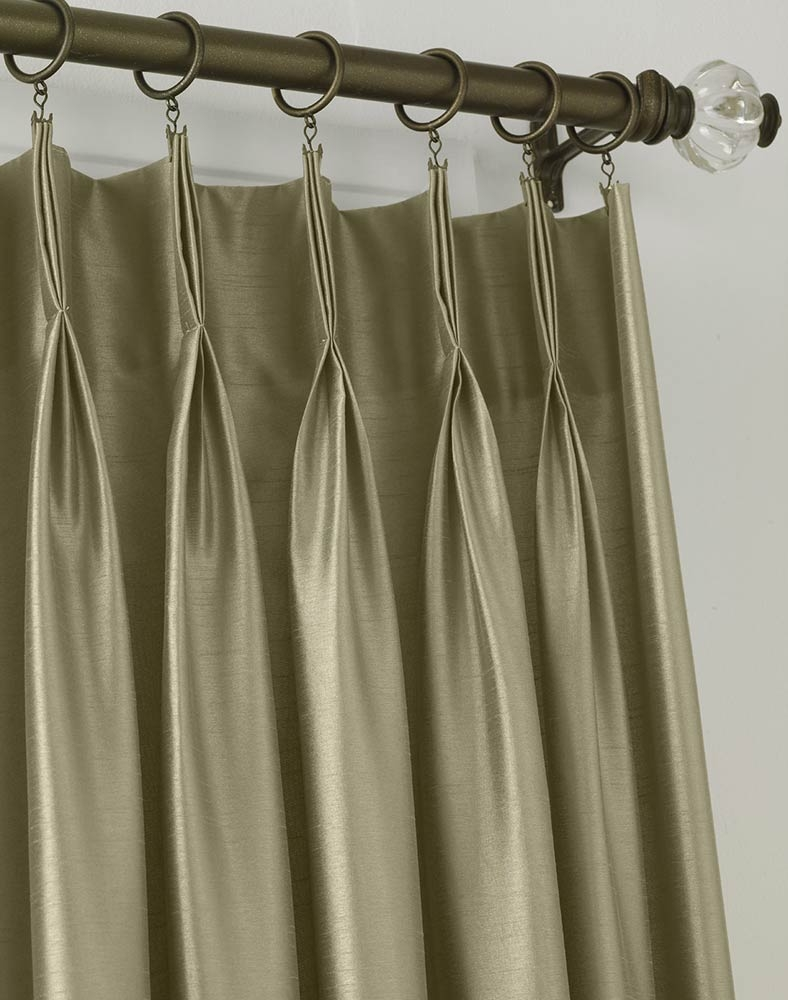 Pleated Curtains Also With A Pleated Drapery Panels Also With A With Double Pinch Pleat Curtains (Image 13 of 15)