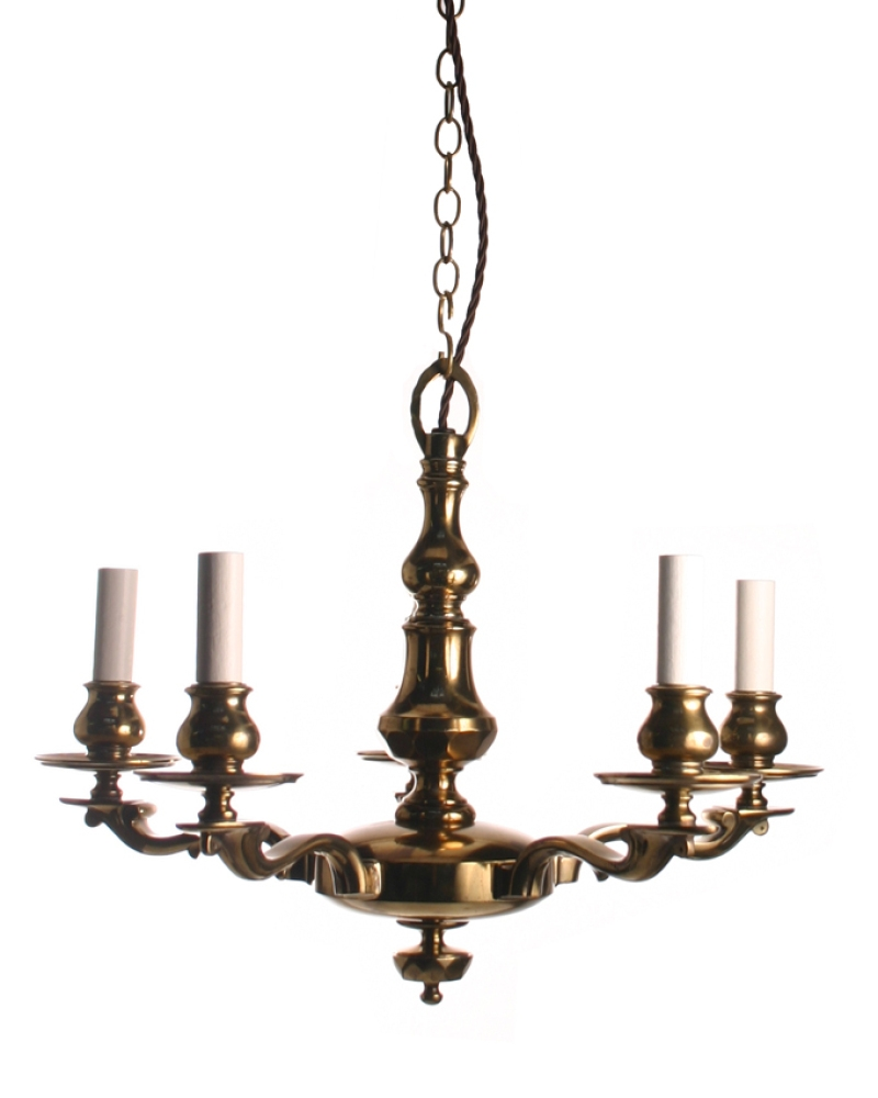 Polished Brass Chandeliers Antique And Shade Brass Chandelier With Edwardian Chandeliers (Image 13 of 15)
