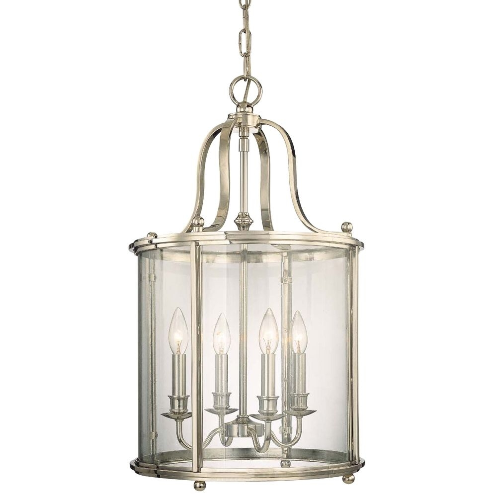 Polished Nickel Cage Chandelier With Four Lights 1315 Pn Pertaining To Caged Chandelier (Image 11 of 15)
