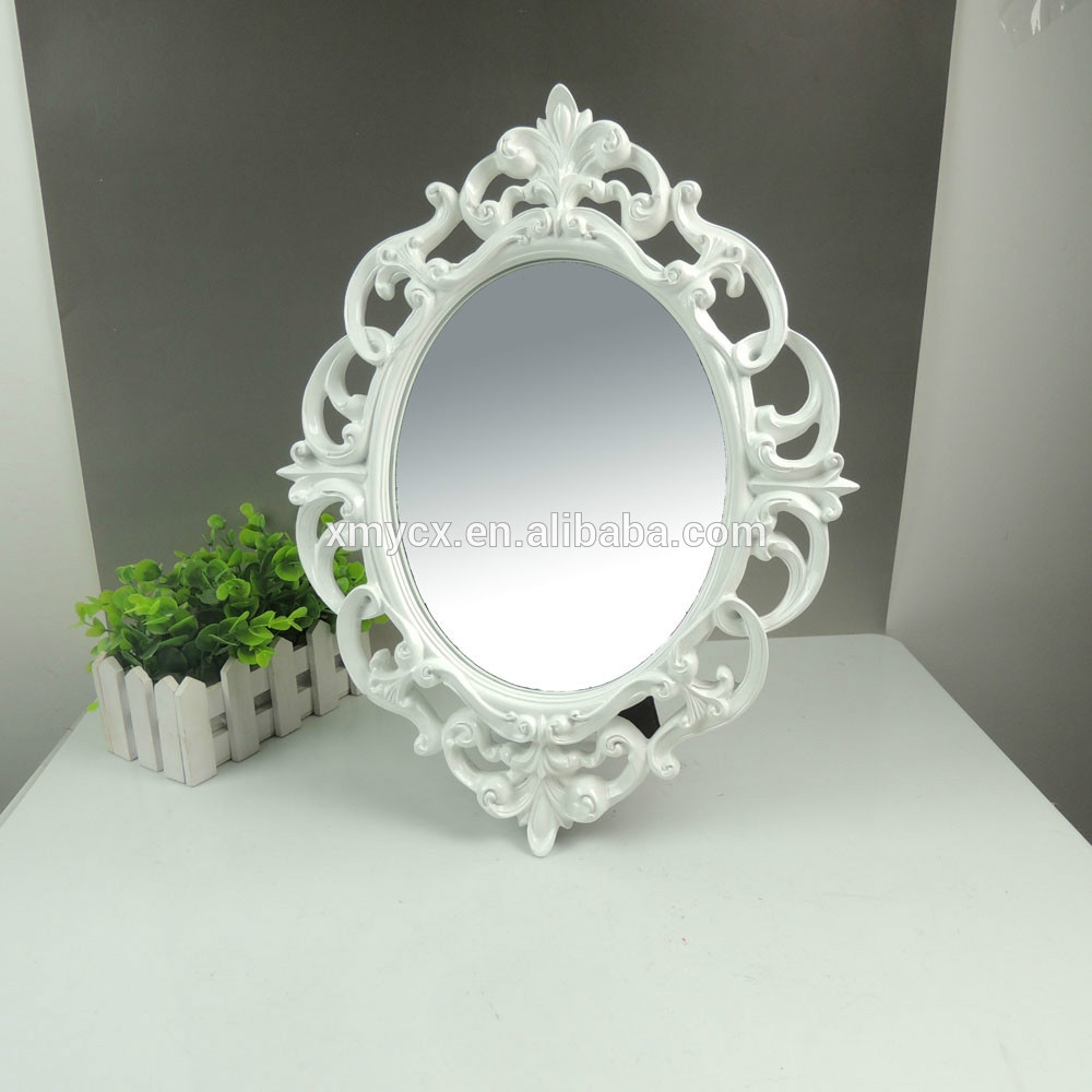 Polyresin Ornate Oval White Designer Mirror Frame Buy Designer Within White Ornate Mirror (Image 10 of 15)