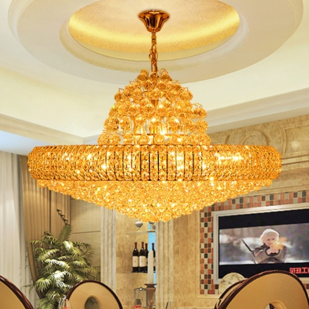 Popular Big Crystal Chandelier Buy Cheap Big Crystal Chandelier Within Huge Crystal Chandeliers (View 15 of 15)