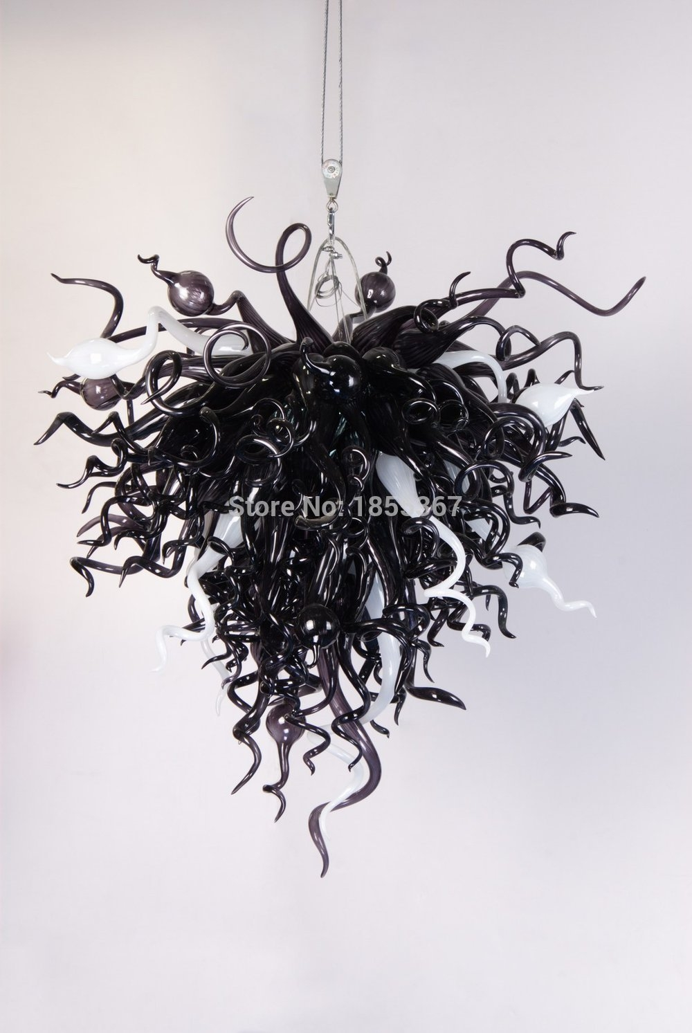 Featured Image of Black Glass Chandelier