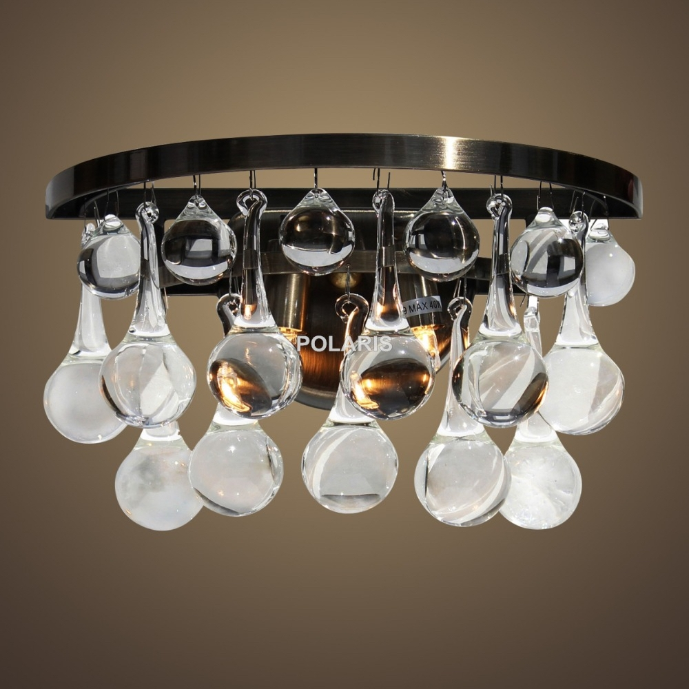 Popular Crystal Chandelier Wall Sconces Buy Cheap Crystal With Regard To Black Chandelier Wall Lights (Image 9 of 15)