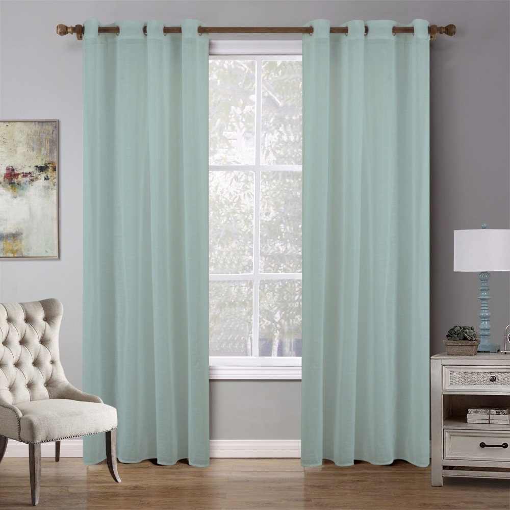 Popular European Style Eyelet Sheer Curtains Buy Cheap European In Sheer Eyelet Curtains (Image 11 of 15)