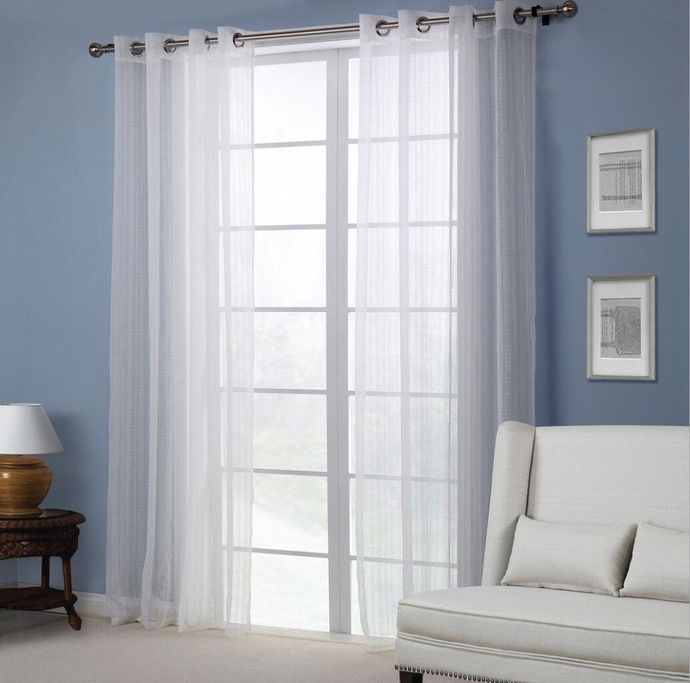 Popular European Style Eyelet Sheer Curtains Buy Cheap European Inside Sheer Eyelet Curtains (Image 12 of 15)