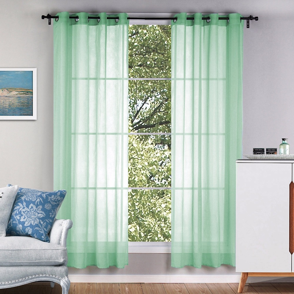 Popular European Style Eyelet Sheer Curtains Buy Cheap European Regarding Sheer Eyelet Curtains (Image 13 of 15)