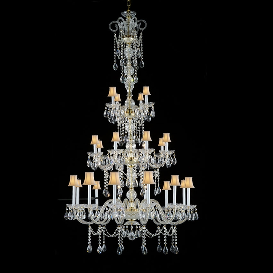 Popular Huge Crystal Chandeliers Buy Cheap Huge Crystal Pertaining To Huge Crystal Chandeliers (Image 14 of 15)
