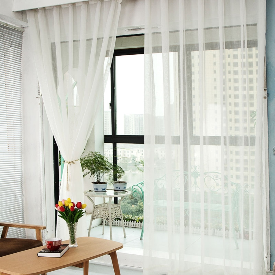 Popular Linen Gauze Curtains Buy Cheap Linen Gauze Curtains Lots Regarding Linen Gauze Curtains (View 12 of 15)