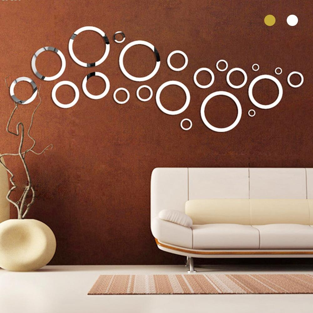 Popular Round Circle Mirrors Buy Cheap Round Circle Mirrors Lots Regarding Mirror Circles For Walls (Image 13 of 15)