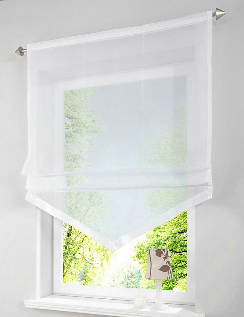 15 Photos Voile Blinds Curtain Ideas