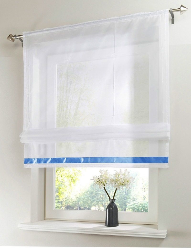 Popular Voile Roman Blinds Buy Cheap Voile Roman Blinds Lots From With Voile Blinds (View 6 of 15)