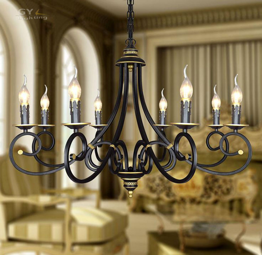 Popular Wrought Iron Light Fixtures Buy Cheap Wrought Iron Light Throughout Modern Wrought Iron Chandeliers (Image 12 of 15)