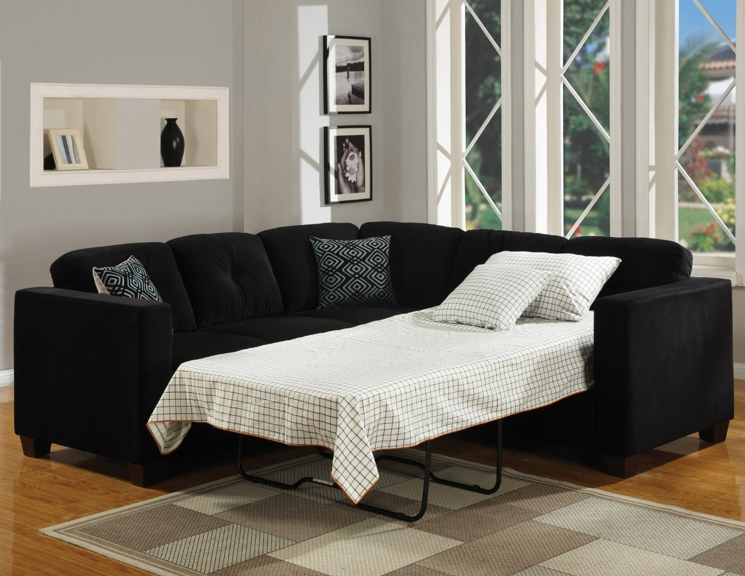Post Sofa Impressive Home Design Regarding Black Sectional Sofa For Cheap (Image 11 of 15)