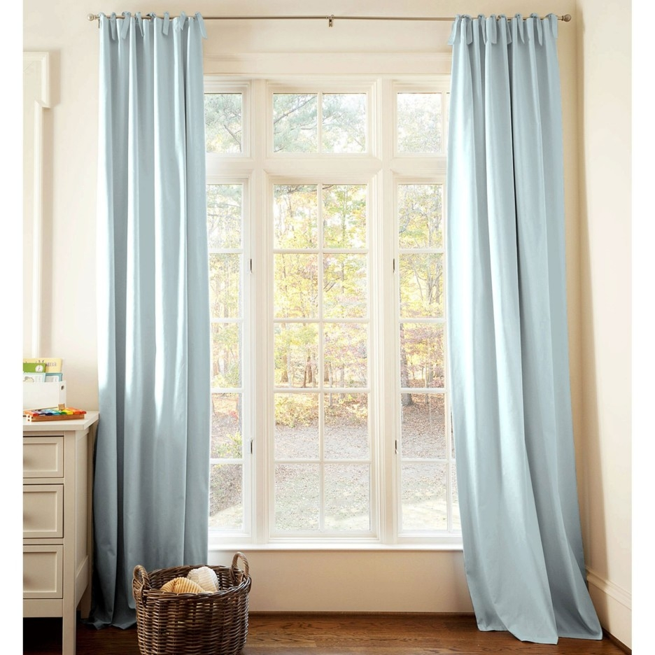 Powder Blue Curtains Decor Decoration One Pair Silky Curtain Regarding Silky Curtains (Image 10 of 15)