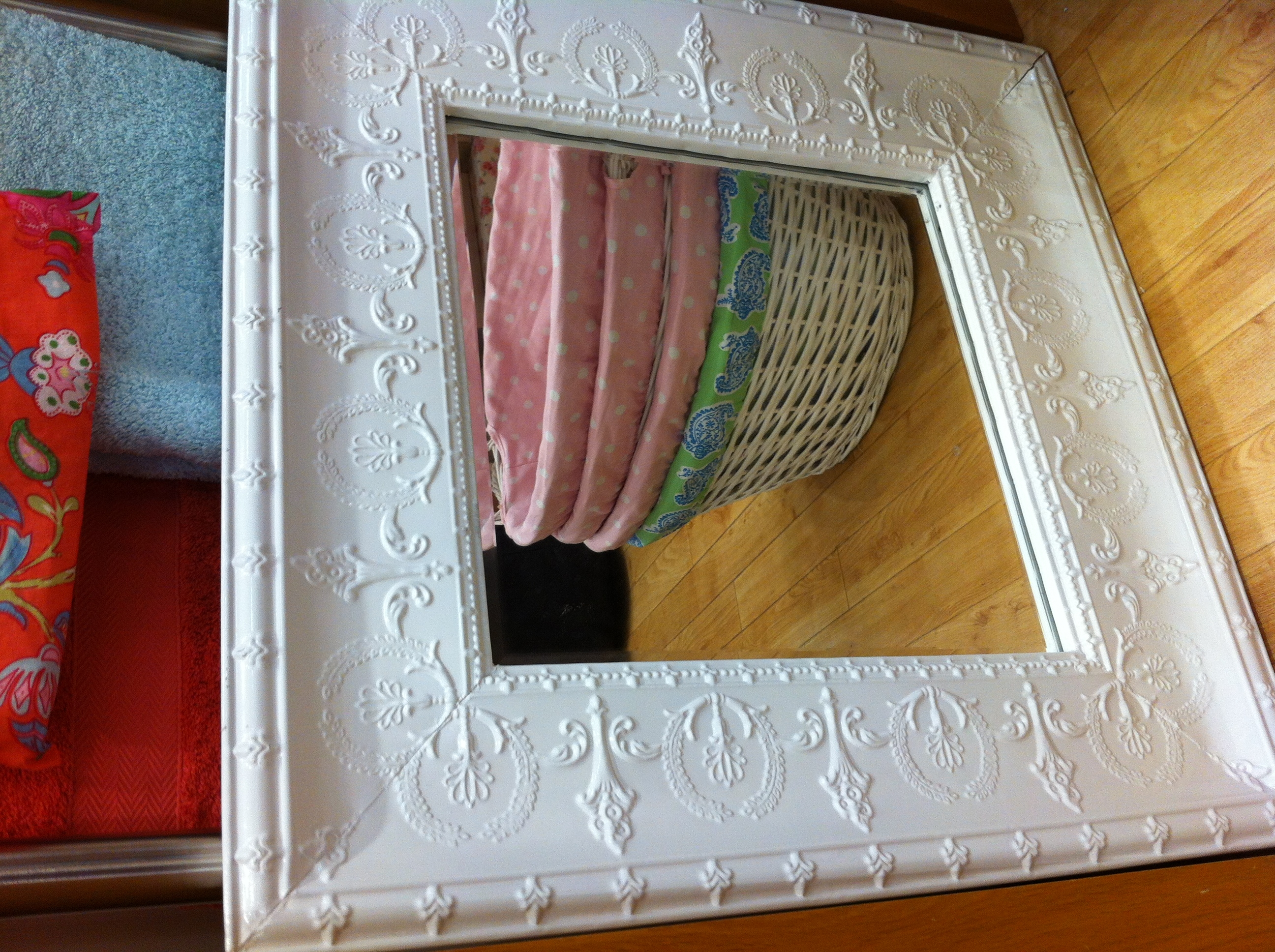 Pressed Metal Mirror 3 Home Is Where The Heart Is Pinterest Pertaining To Pressed Tin Mirrors (View 5 of 15)