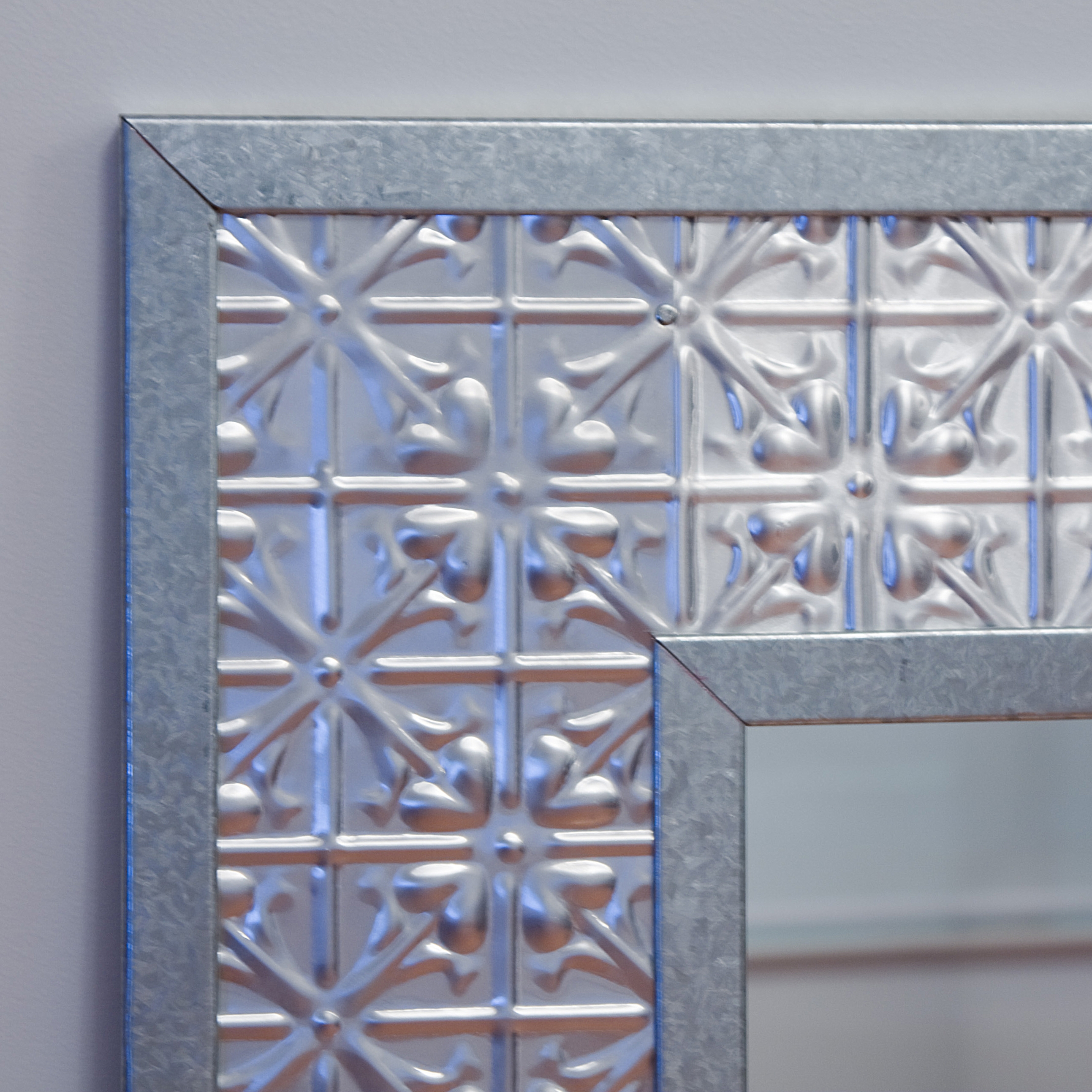 Pressed Tin Mirrors With Pressed Tin Mirror (Image 10 of 15)