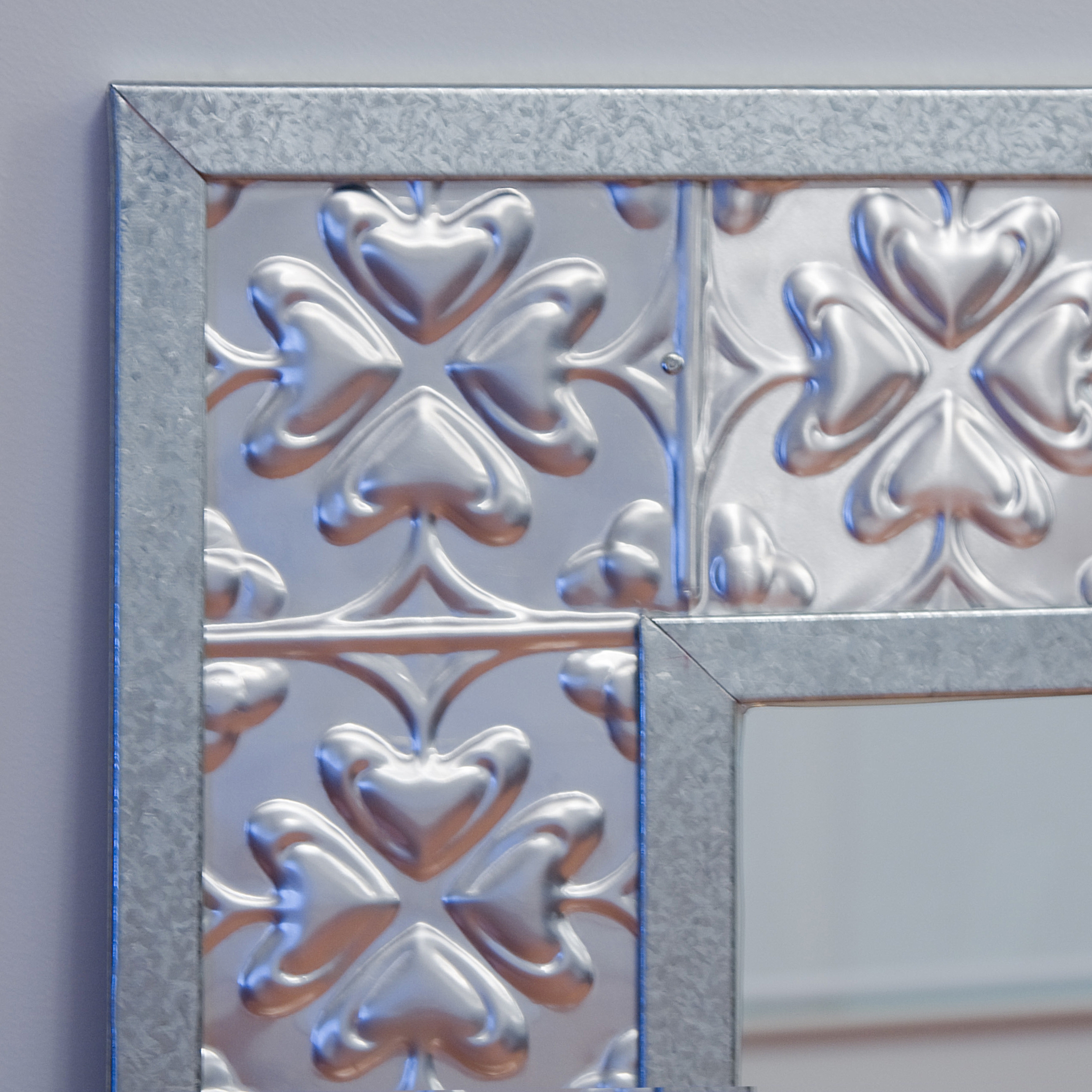 Pressed Tin Mirrors With Pressed Tin Mirror (Image 9 of 15)