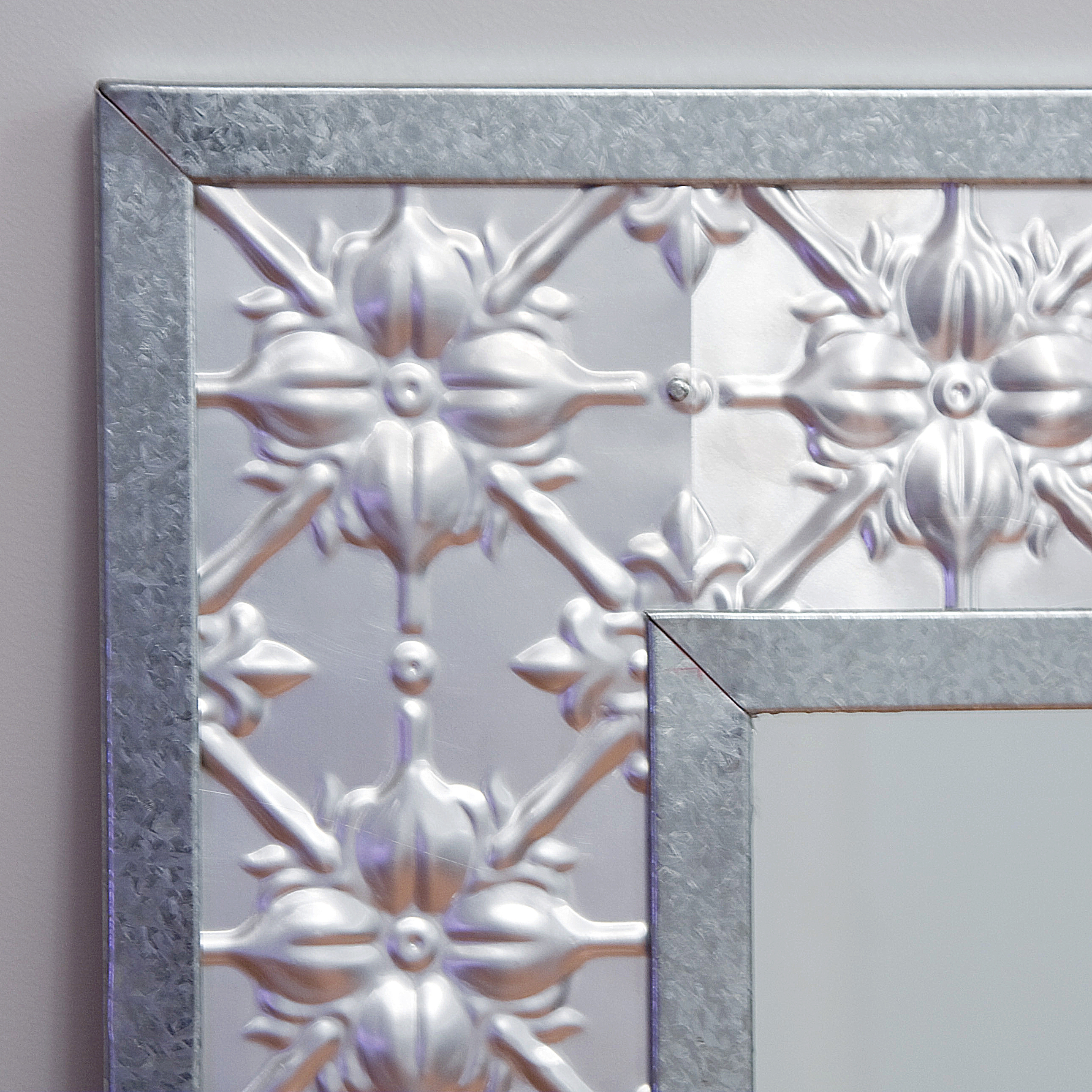 Pressed Tin Mirrors Within Pressed Tin Mirror (Image 11 of 15)