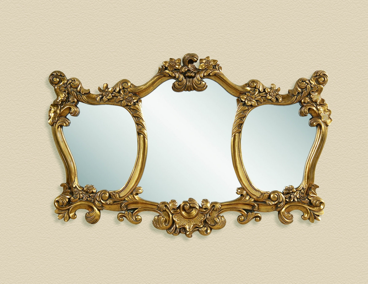 Pretty Vintage French Mirror And Antique French Floor Mirror In Gold Antique Mirrors (View 5 of 15)