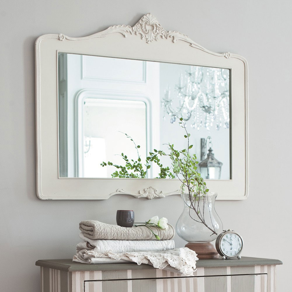 Pretty White Bathroom Mirrors Beach Style Bathroom Mirrors Within Pretty Mirrors For Walls (Image 10 of 15)