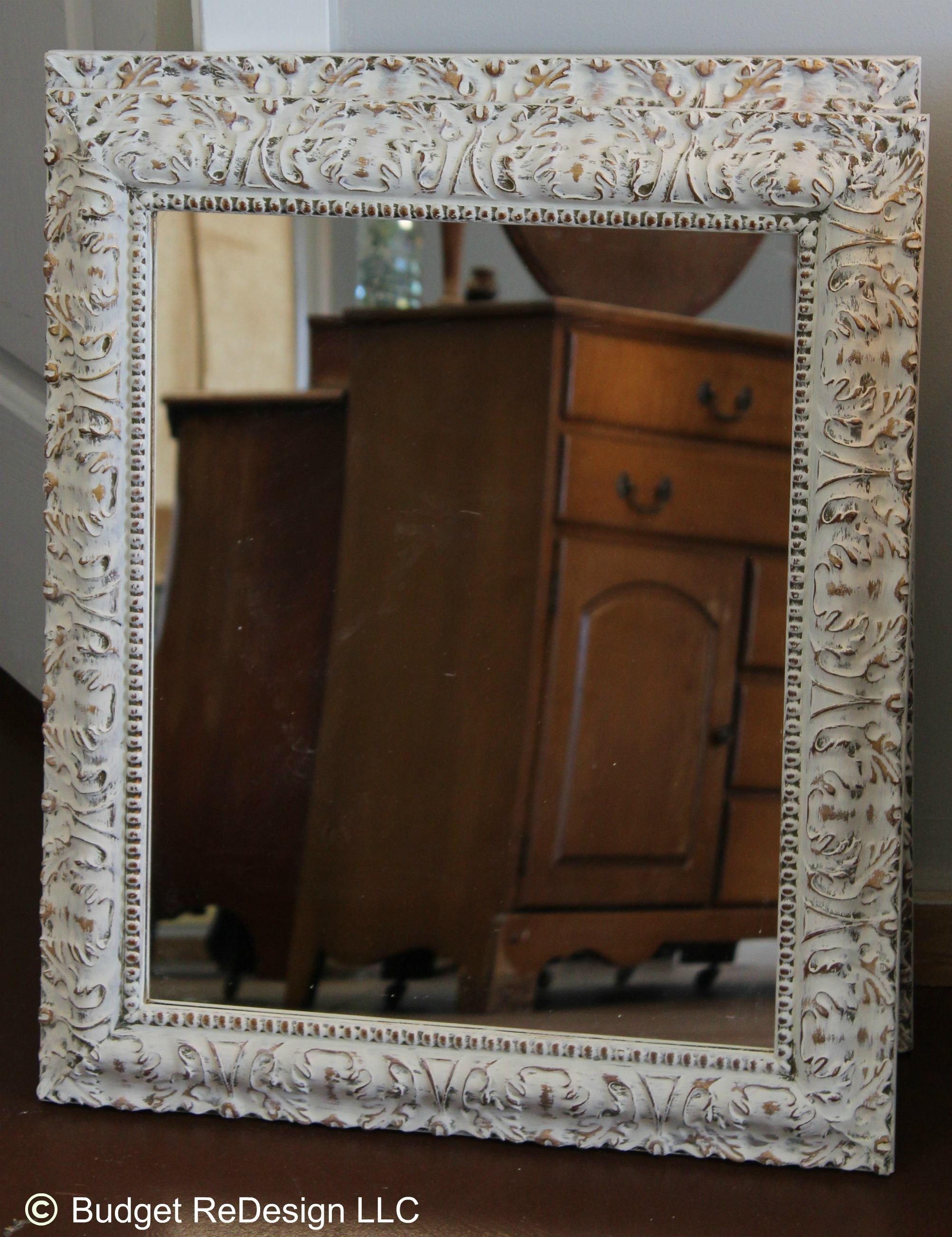 Previously Gold Mirror Turned Shab Chic With Annie Sloans Old Inside Shabby Chic Gold Mirror (Image 12 of 15)