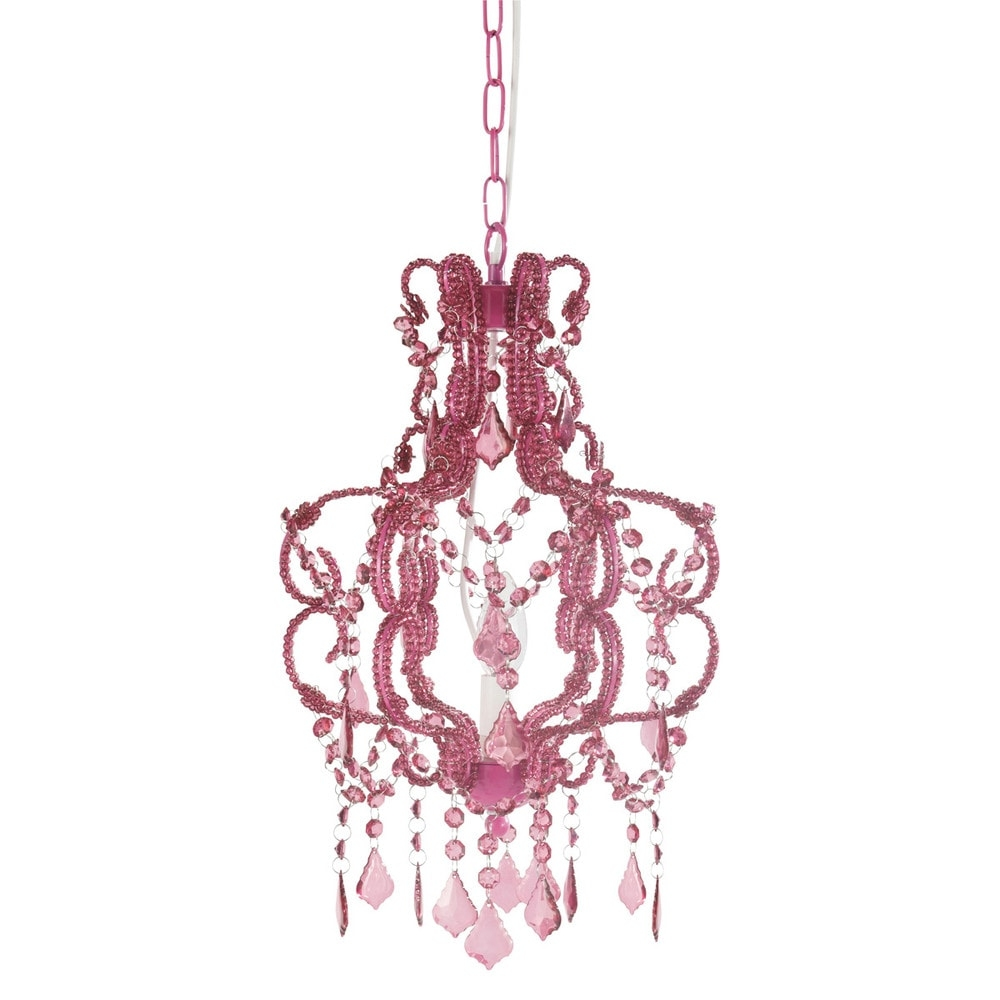 Princess Fuchsia Chandelier Maisons Du Monde Intended For Fuschia Chandelier (Image 12 of 15)