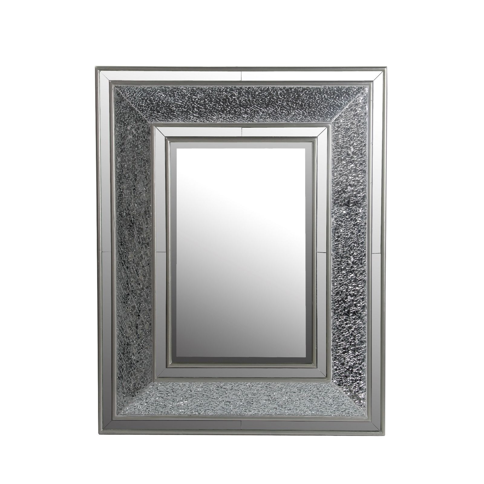 Privilege Beveled Rectangle Mosaic Mirror 30x3x38 Black Inside Black Mosaic Mirror (Image 13 of 15)