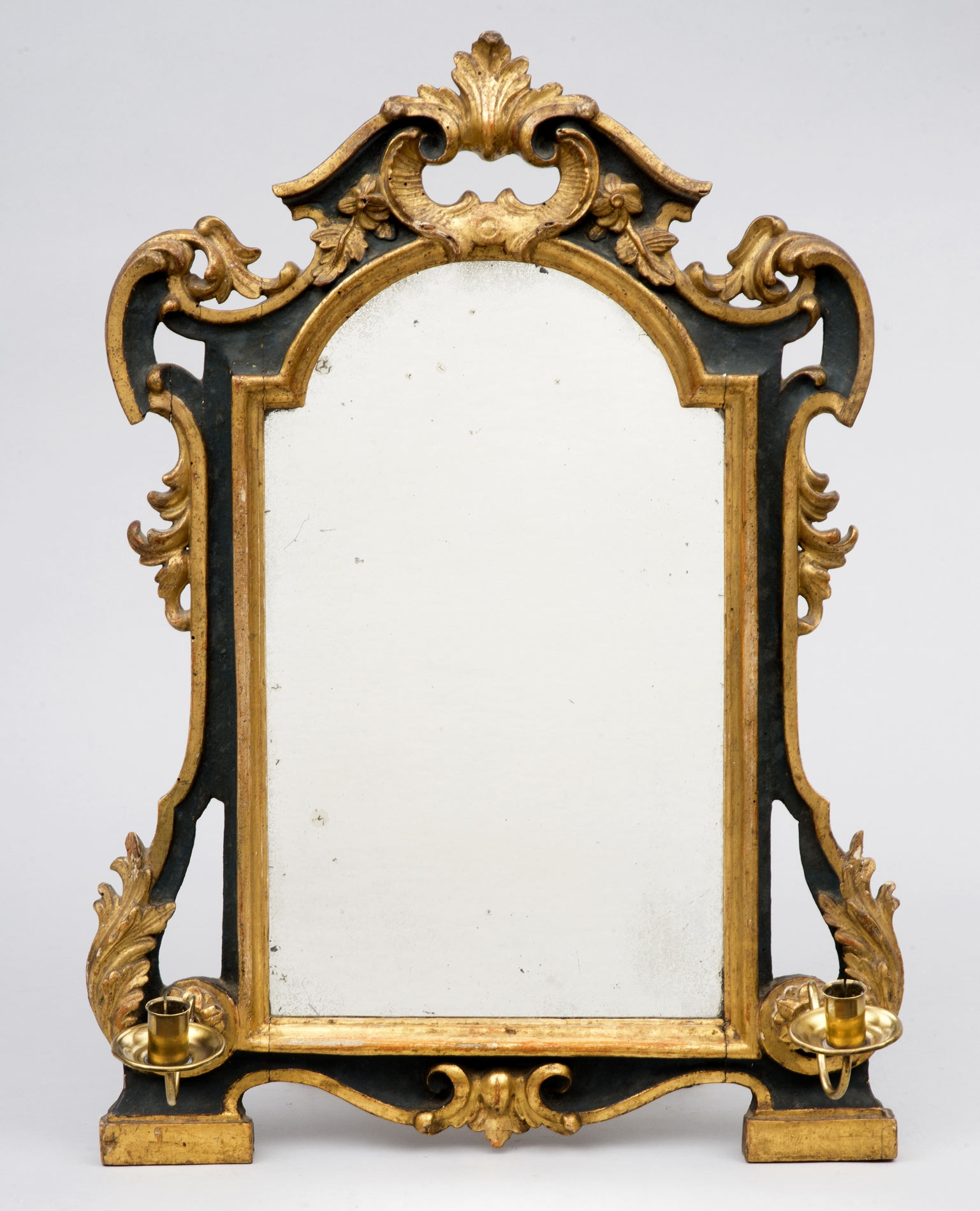 Product Eighteenth Century Italian Green Gilt Mirror With Regard To Silver Gilded Mirror (Image 15 of 15)