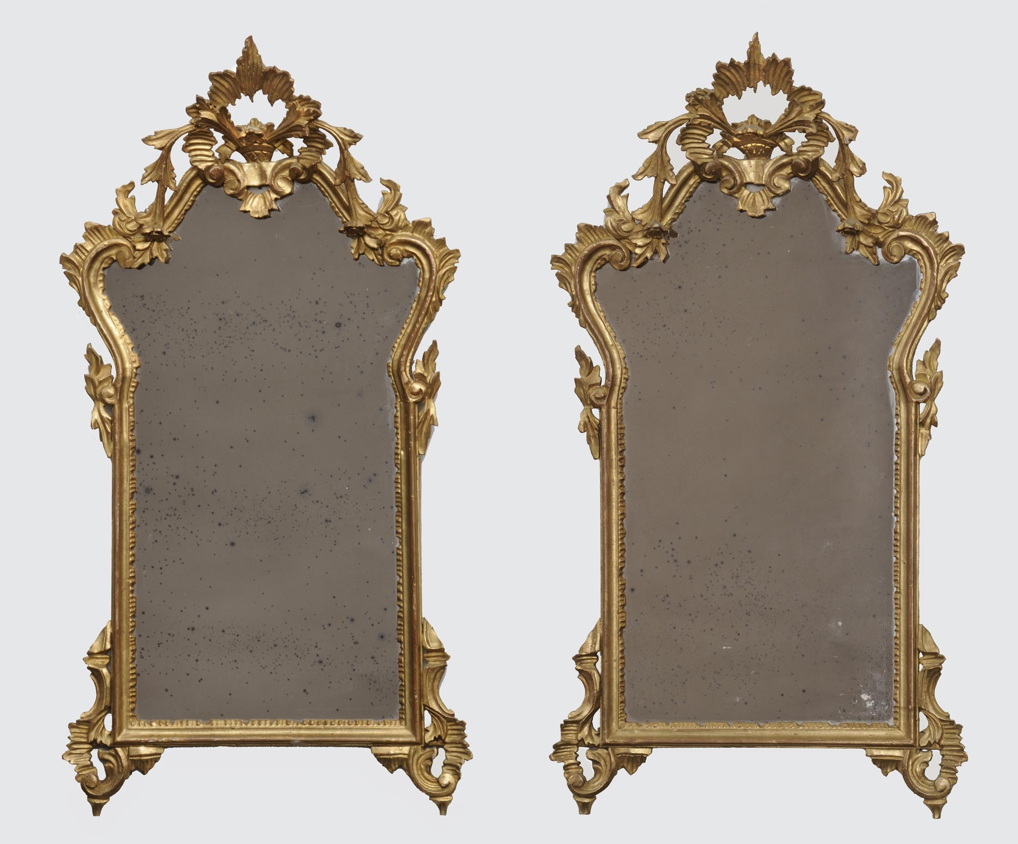 Product Pair Italian Rococo Mirrors Intended For Rococo Mirrors (Image 13 of 15)