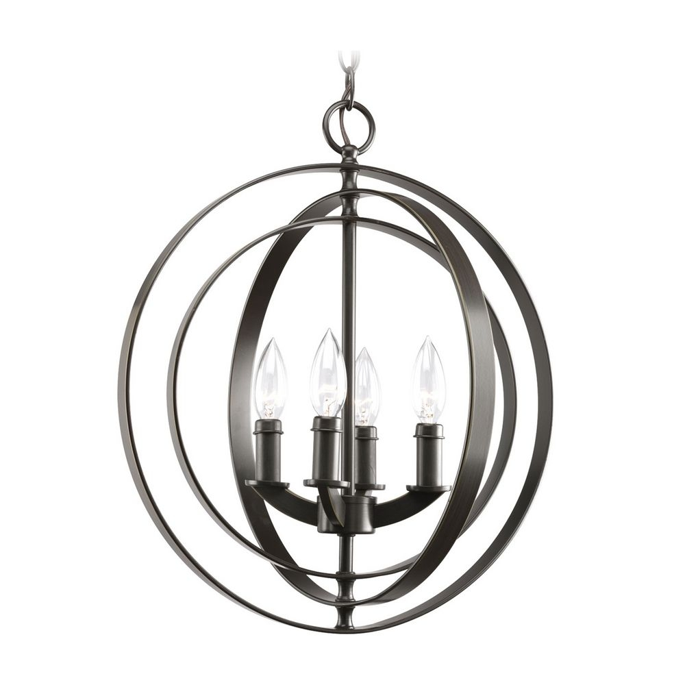Progress Orb Chandelier In Antique Bronze Finish P3827 20 With Orb Chandelier (Image 15 of 15)