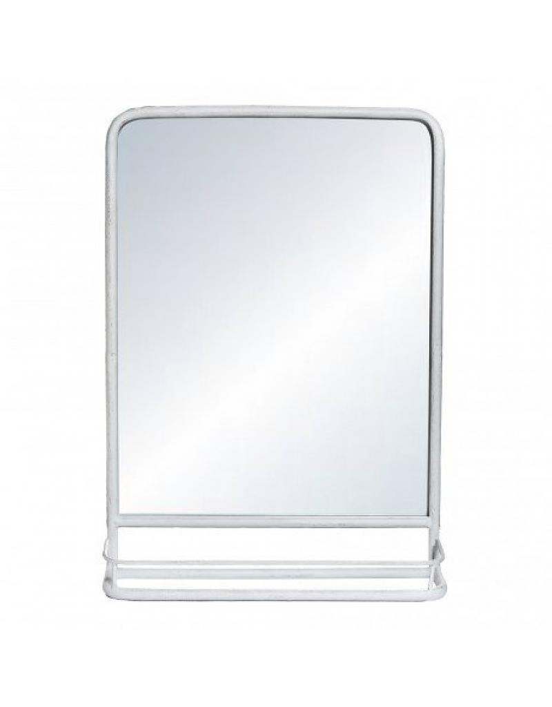 Ptmd Simple White Metal Mirror On Foot Pracht Interieur Throughout White Metal Mirror (Image 11 of 15)