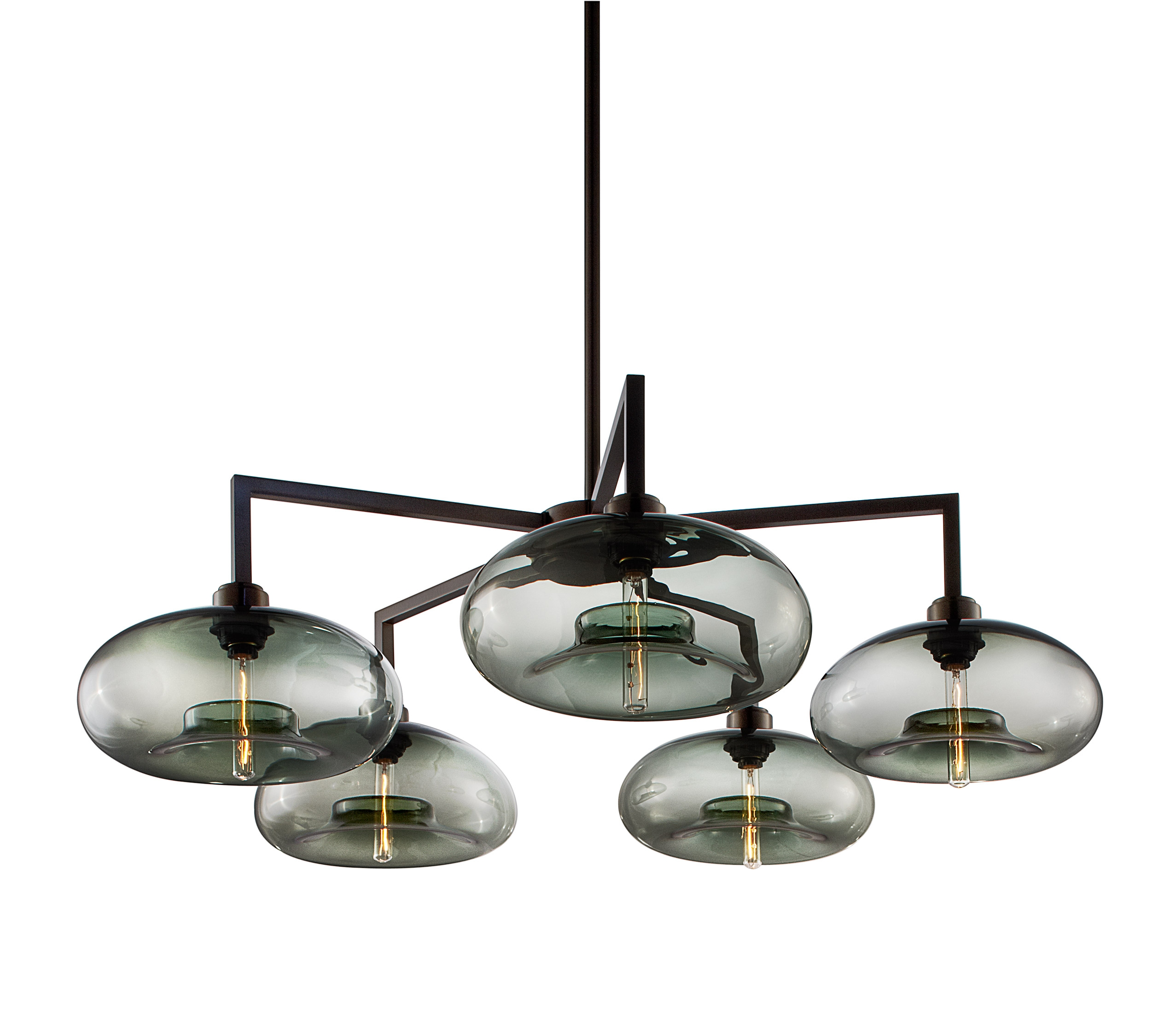 Quill 5 Modern Chandelier On Designer Pages Intended For Contemporary Chandelier (Image 15 of 15)