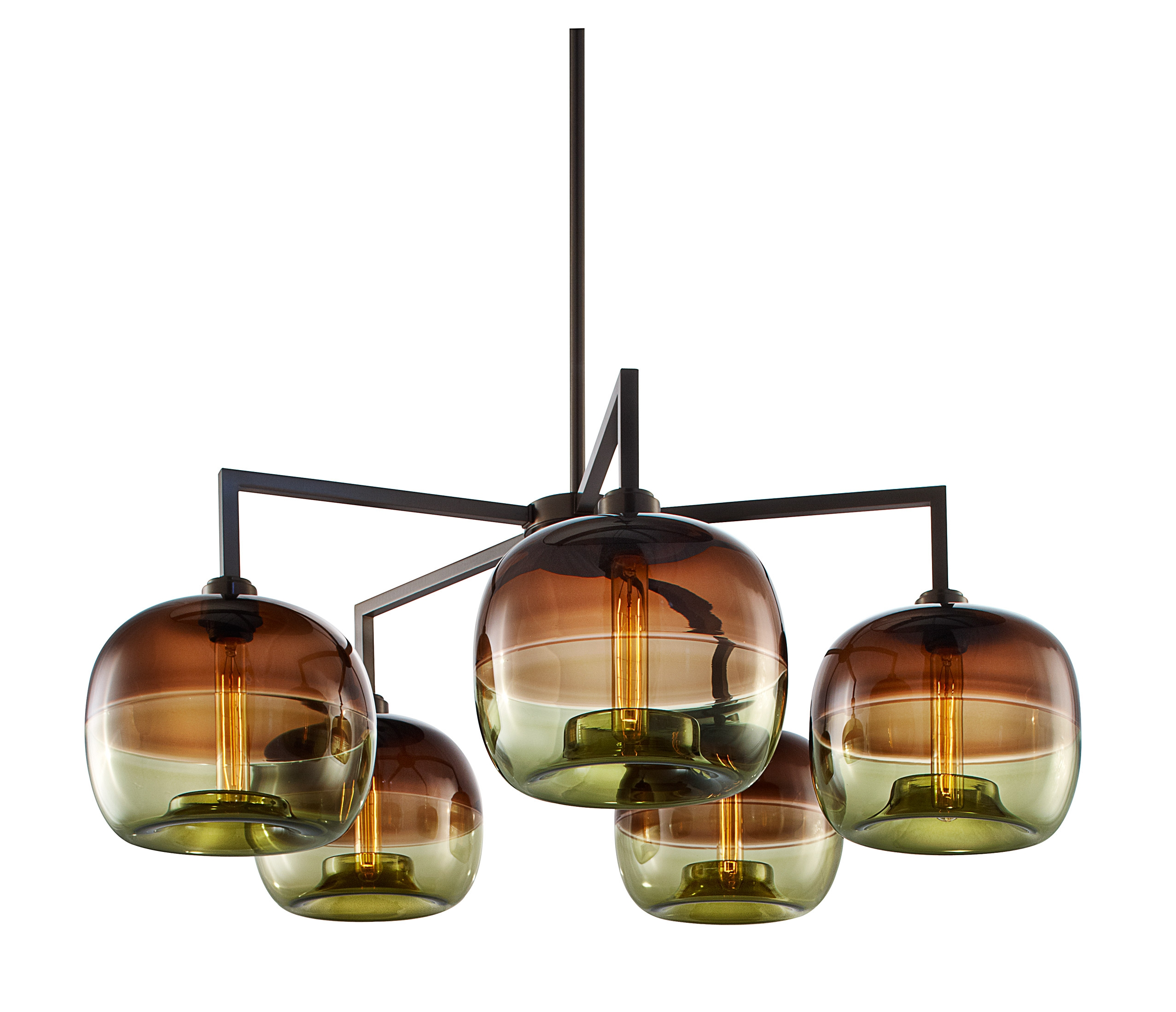 Quill 5 Modern Chandelier With Encalmo Pendant Lamps Modern Inside Modern Chandelier Lighting (Photo 15 of 15)