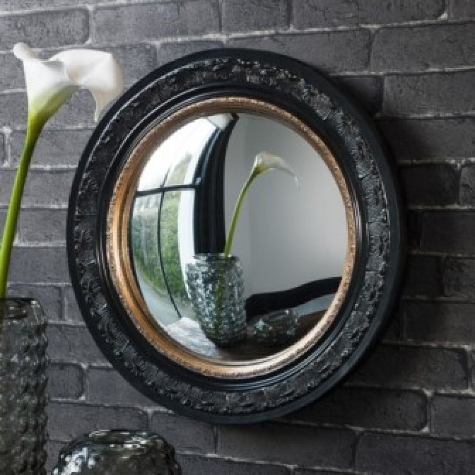 Quirky And Fun Fish Eye Convex Mirror Grace And Grey With Regard To Convex Porthole Mirror (Image 9 of 15)