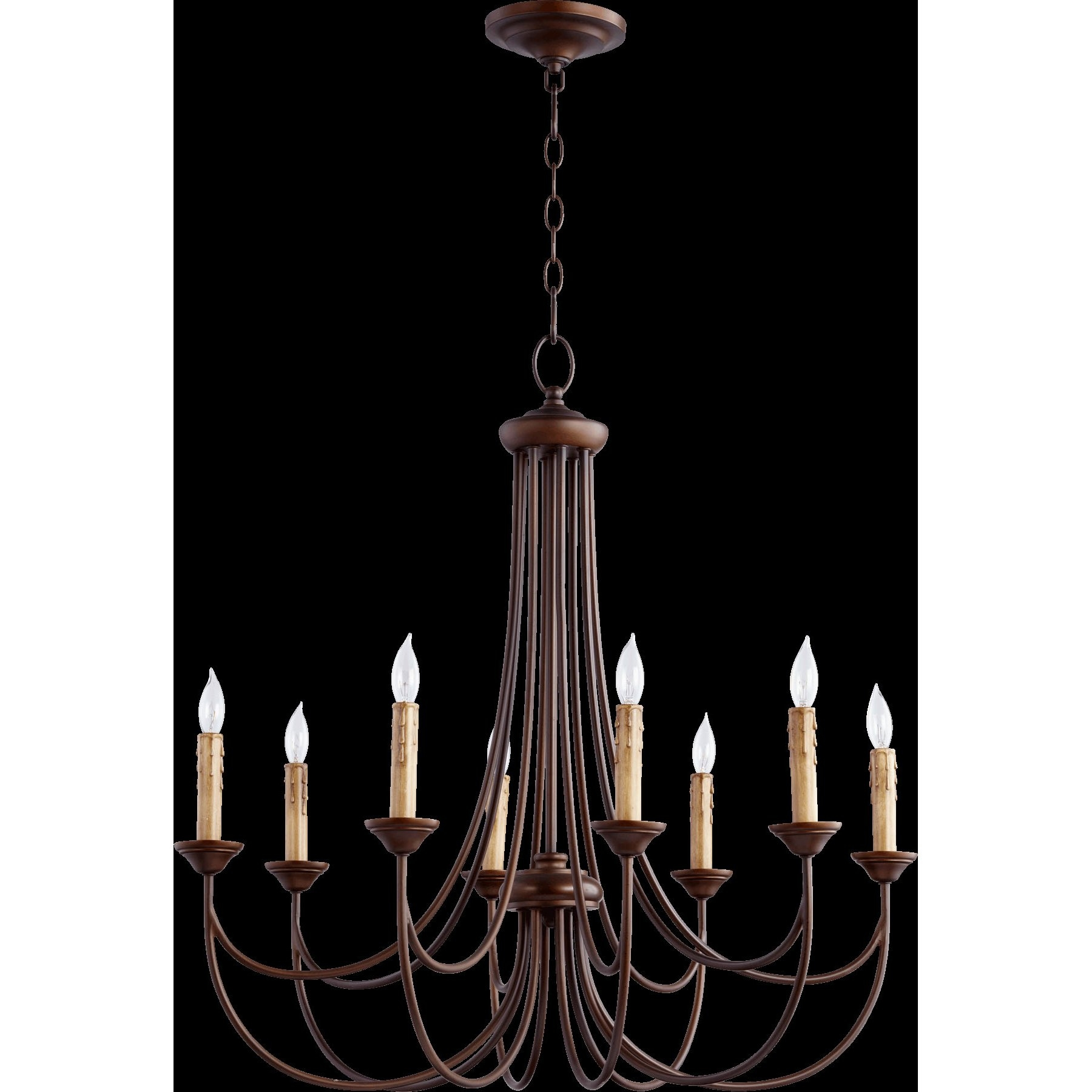 Quorum Brooks 8 Light Candle Style Chandelier Reviews Wayfair With Candle Light Chandelier (Image 13 of 15)