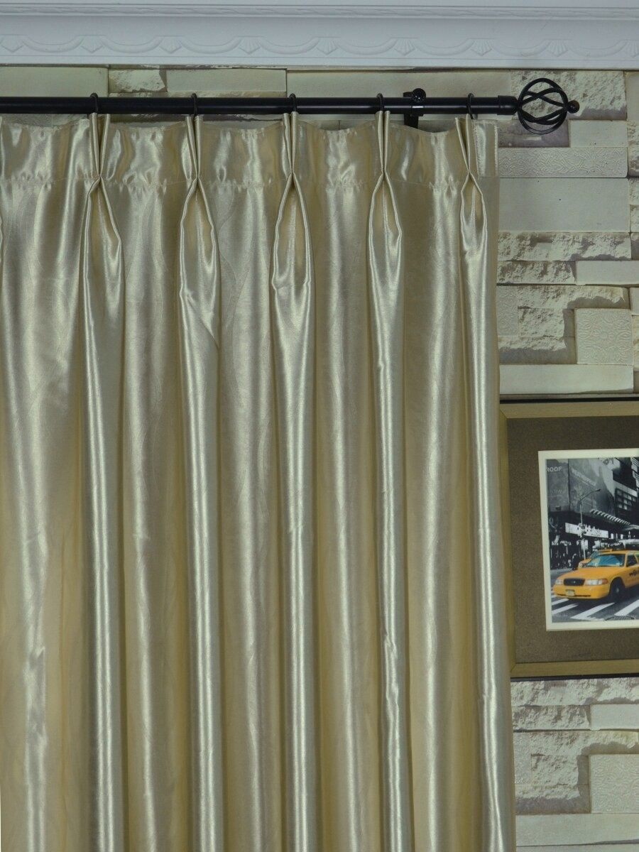 Qy3163mc Murrumbidgee Reflective Embossed Double Pinch Pleat In Double Pinch Pleat Curtains (Image 15 of 15)