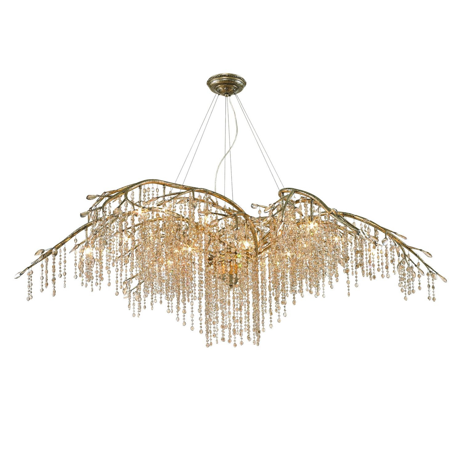 Qz990 Golden Lighting Autumn Twilight Goldsilver Clear Crystal Within Crystal Branch Chandelier (Photo 5 of 15)
