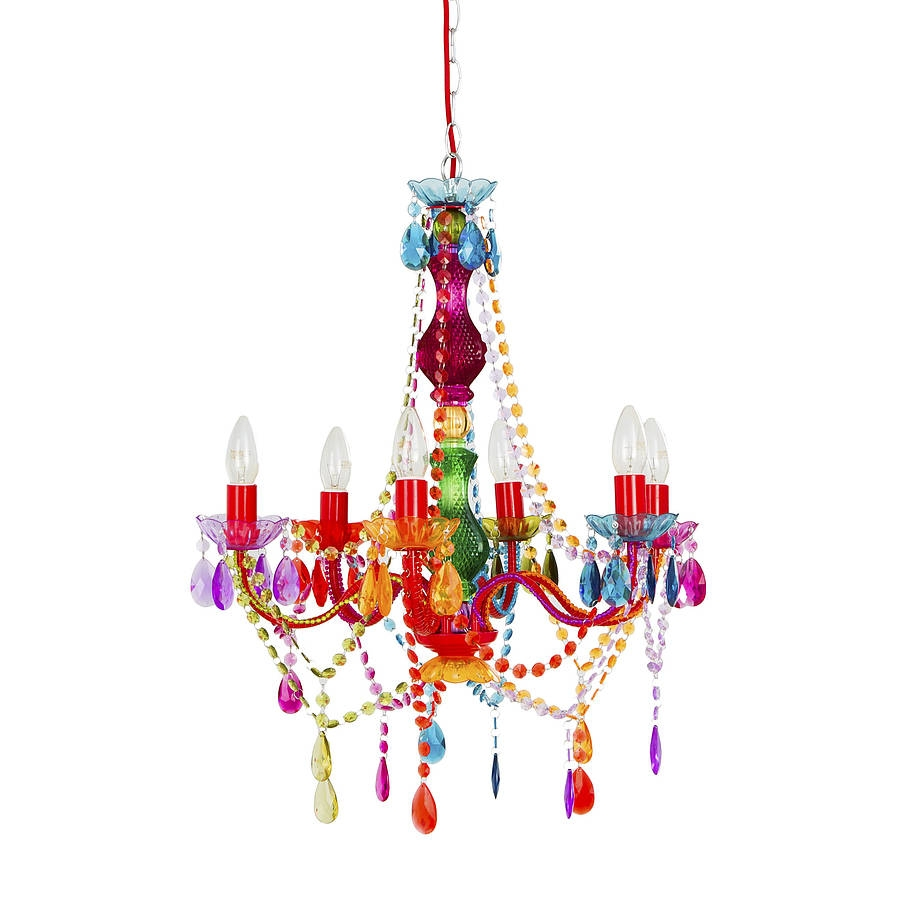 Rainbow Chandelier House Stuff Pinterest Products Rainbows Throughout Colourful Chandeliers (Image 13 of 15)