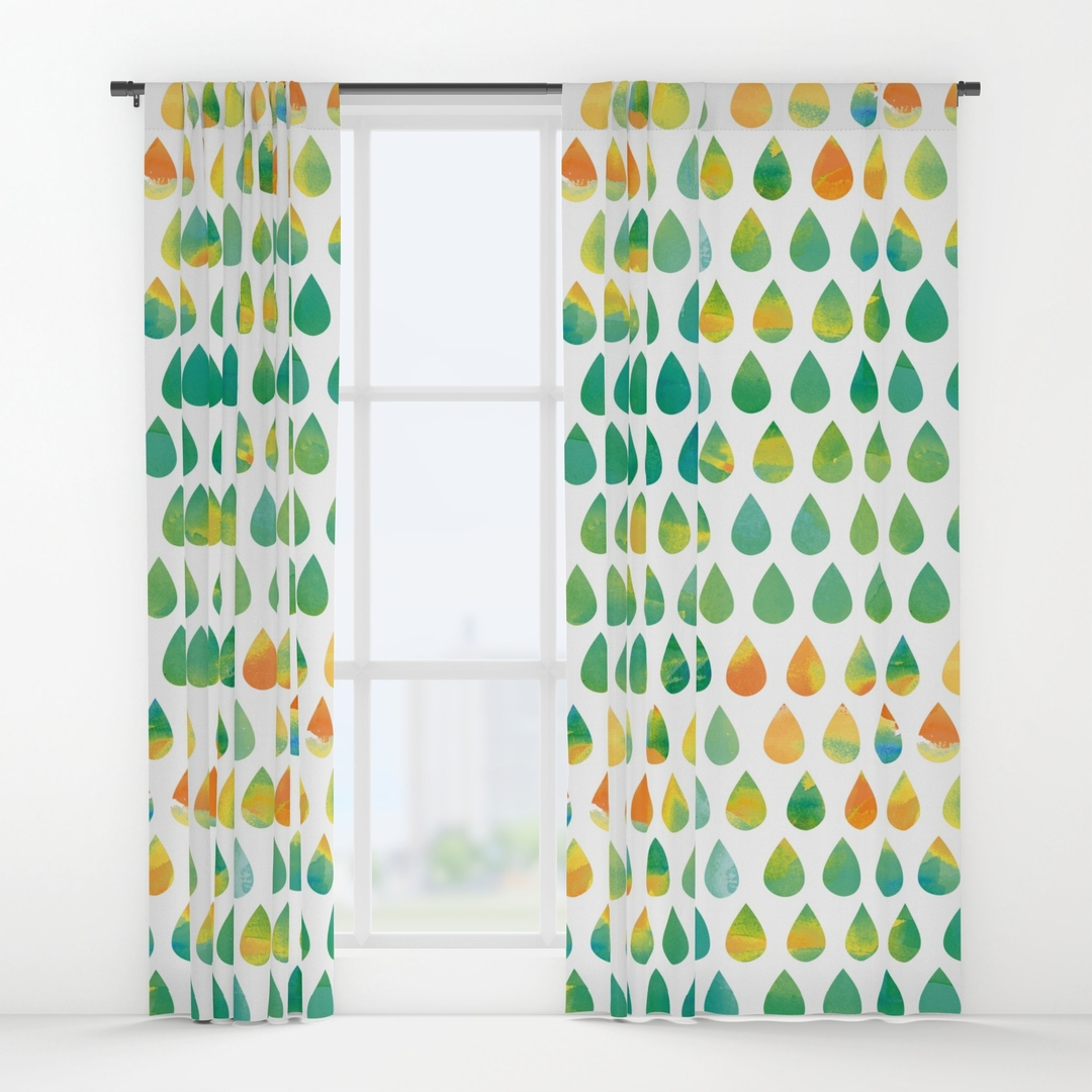 Rainy Window Curtains Society6 With Monsoon Curtains (Image 12 of 15)