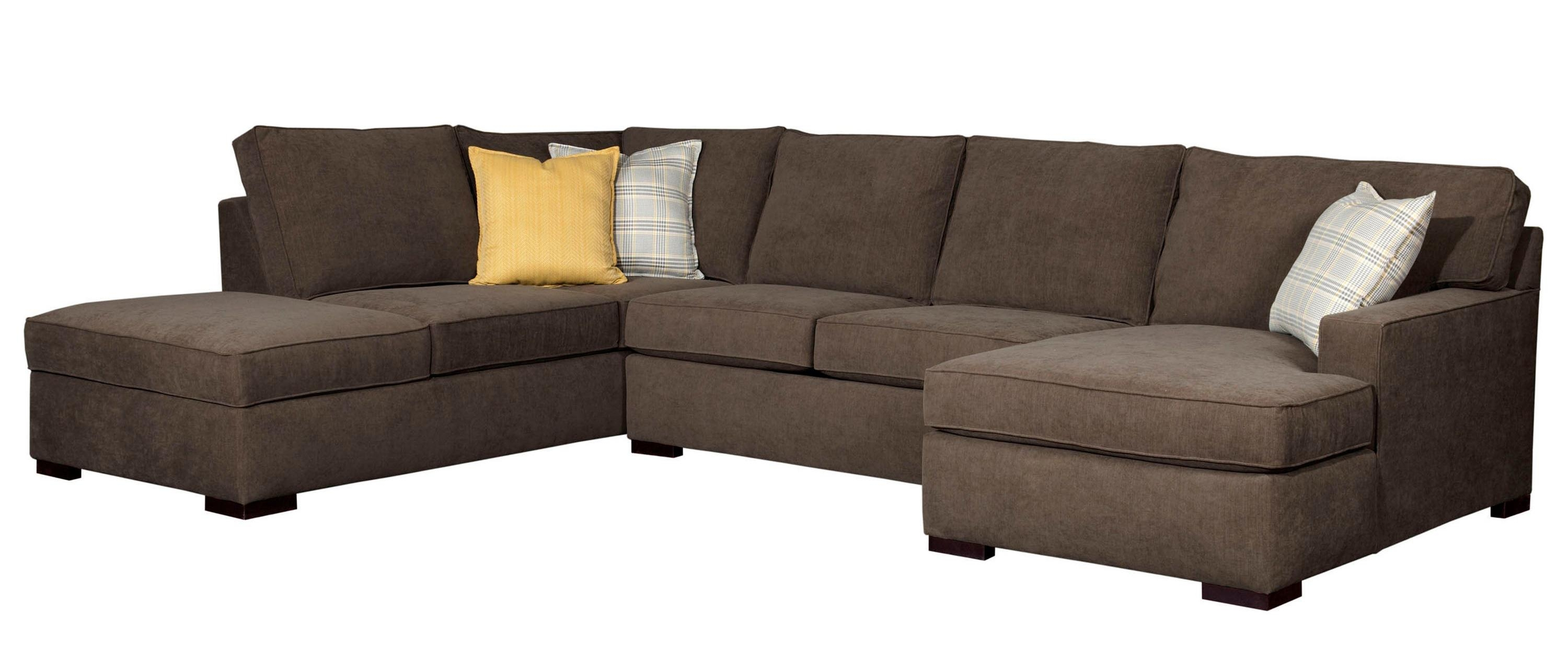 Raphael Contemporary Sectional Sofa With Raf Corner Storage Chaise With Broyhill Sectional Sofas (Image 12 of 15)