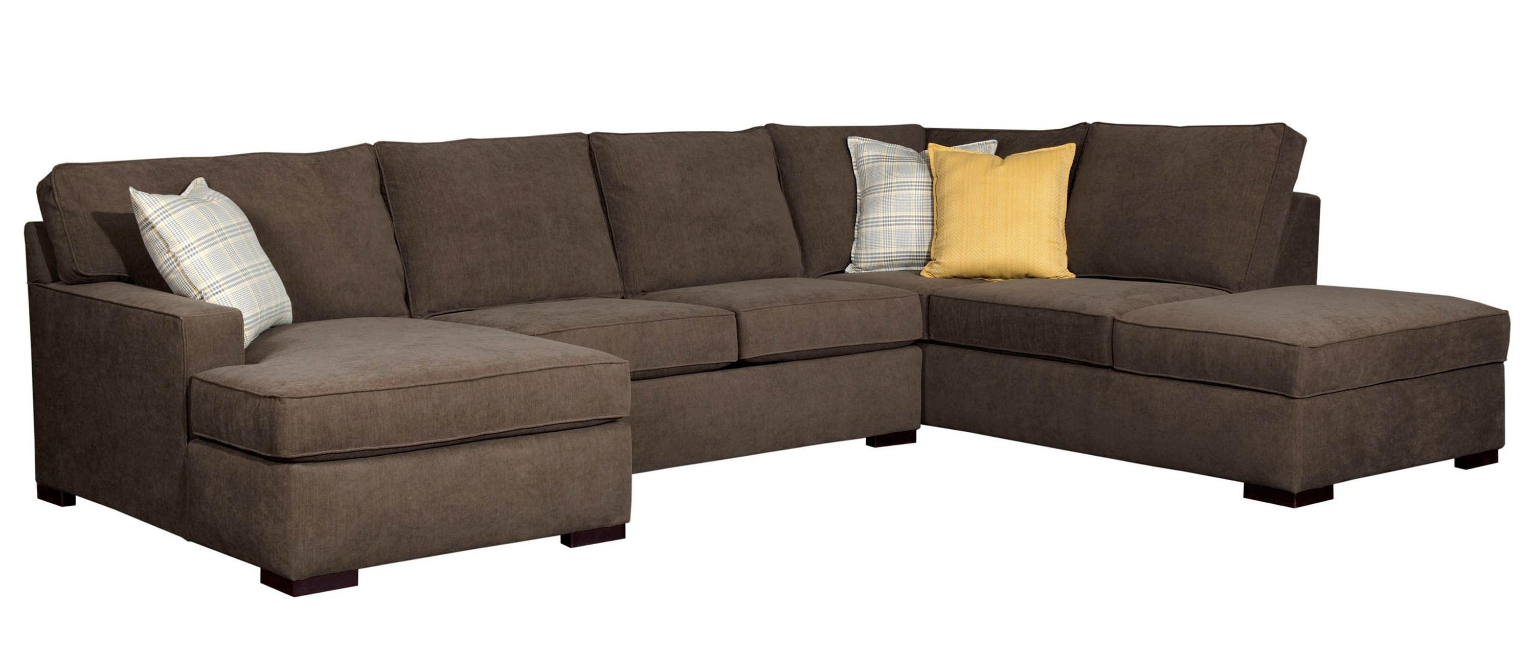 Raphael Three Piece Sectional Sofa Broyhill Furniture Home In Broyhill Sectional Sofas (Image 13 of 15)