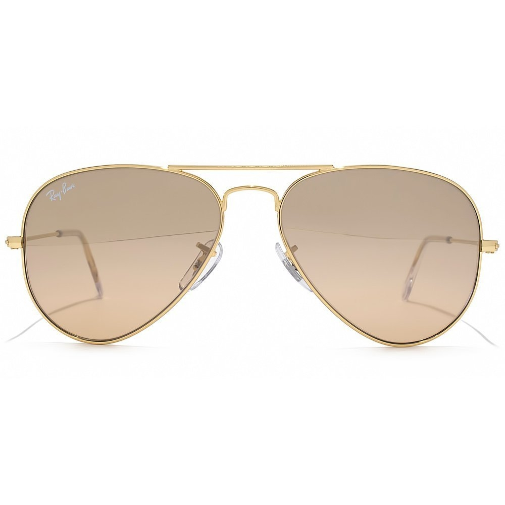 Ray Ban Aviator Sunglasses In Silver Crystal Brown Pink Mirror Within Large Pink Mirror (Photo 15 of 15)